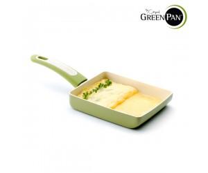 그린팬 포커스 DEEP 세라믹 계란말이팬18cm(올리브그린)